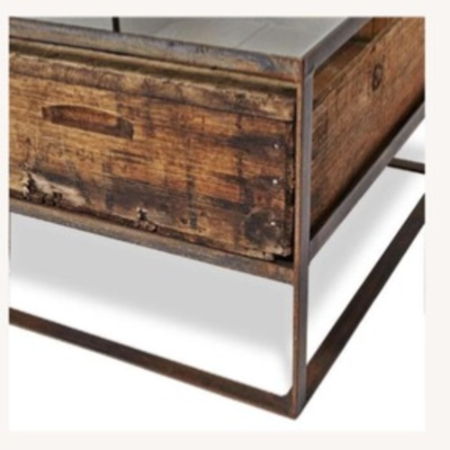 Used ABC Carpet and Home Mason Coffee Table w 2 Crates for sale on AptDeco