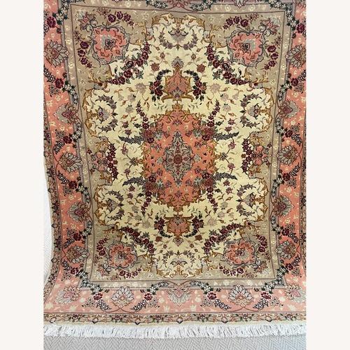 Used Vintage Tabriz Design Area Rug 5' x 6' for sale on AptDeco