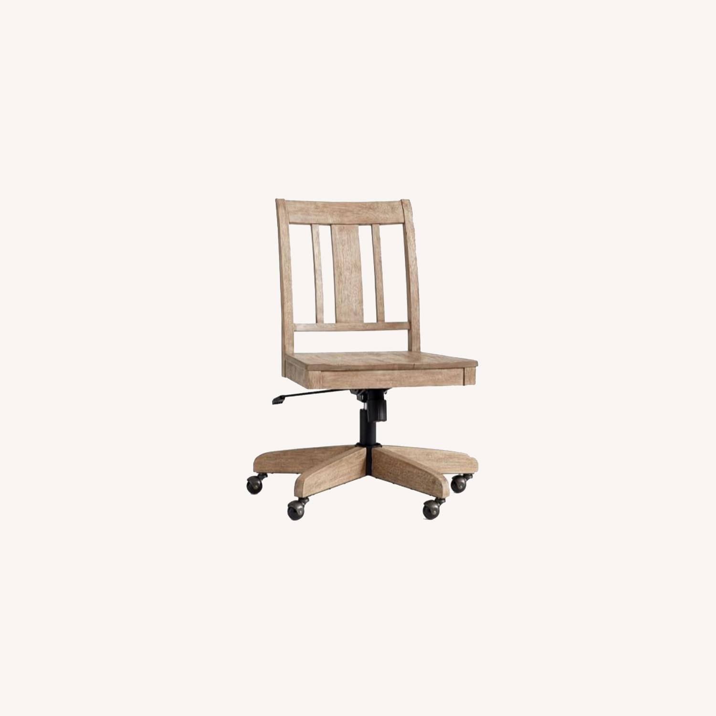 Pottery Barn Holt Swivel Desk Chair Seadrift - image-0