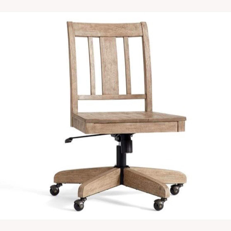 Pottery Barn Holt Swivel Desk Chair Seadrift - image-3