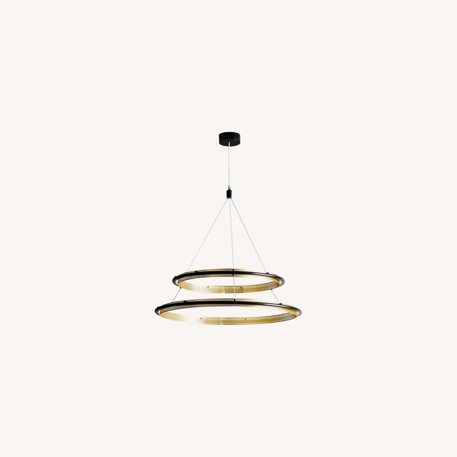 West Elm Perforated Double LED Chandelier - image-0