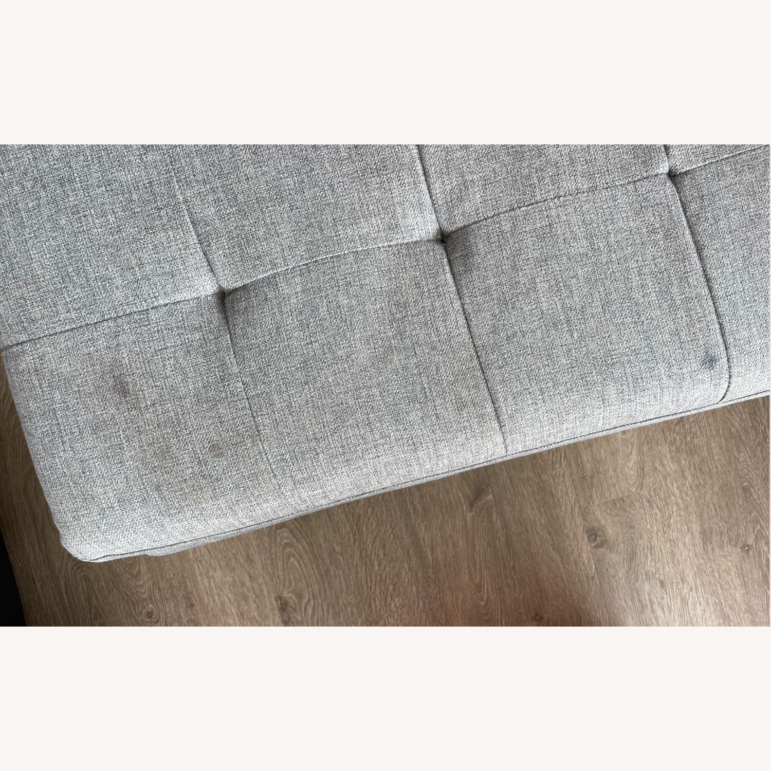 CB2 Ditto II Tufted Chaise Sectional Sofa Grey - image-5