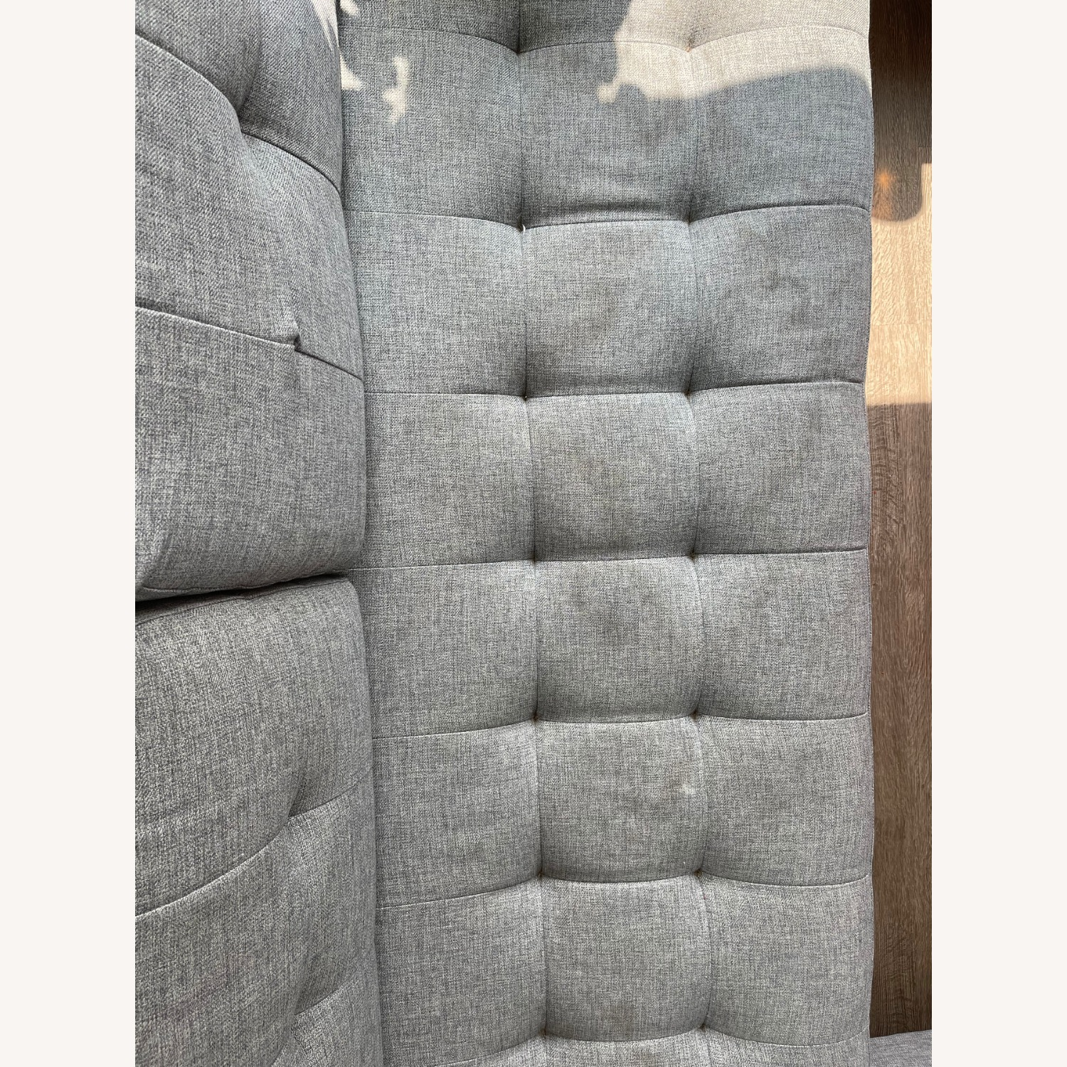 CB2 Ditto II Tufted Chaise Sectional Sofa Grey - image-4