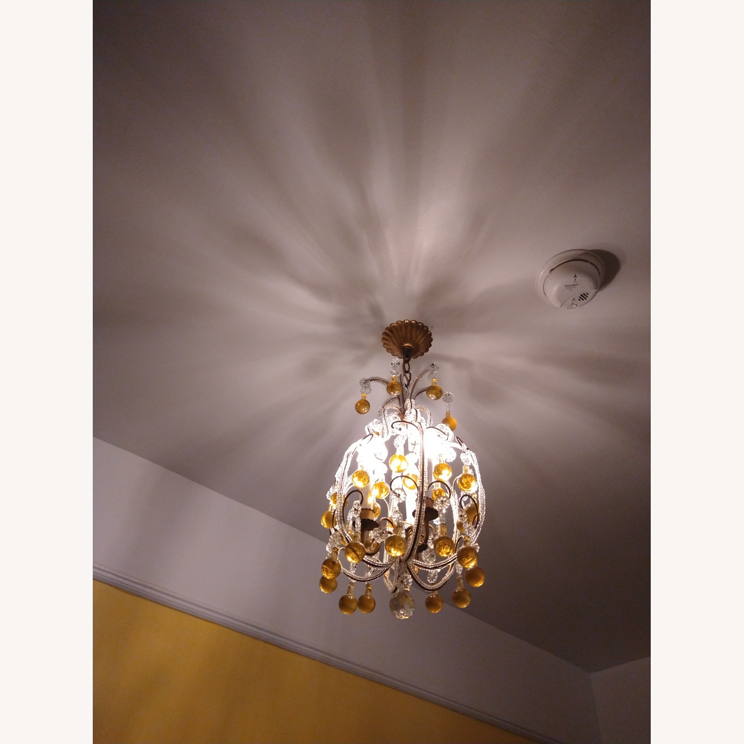 Vintage French Chandelier, Murano Drops - image-2