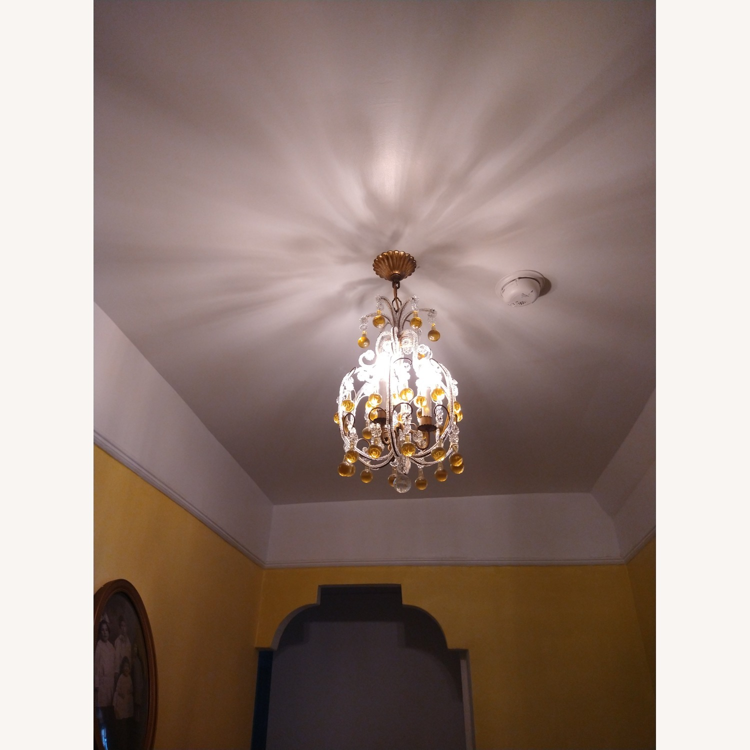 Vintage French Chandelier, Murano Drops - image-5