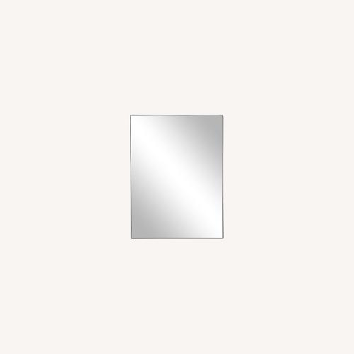 Used One Kings Lane Exton Wall Mirror, Black 20 x 30 for sale on AptDeco
