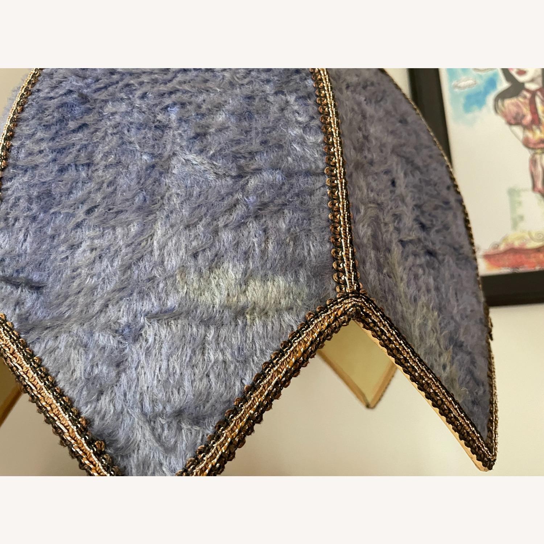 Groovy Vintage Fur Hanging Swag Lamp - image-7