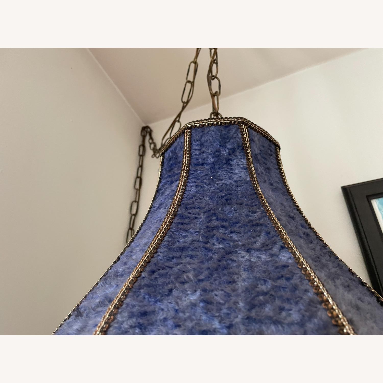Groovy Vintage Fur Hanging Swag Lamp - image-4