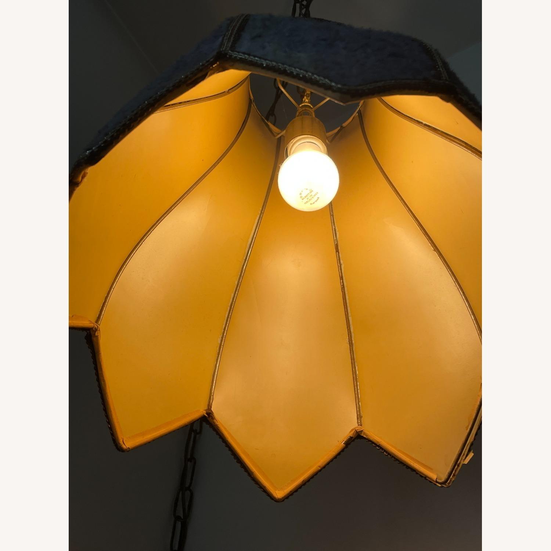 Groovy Vintage Fur Hanging Swag Lamp - image-3