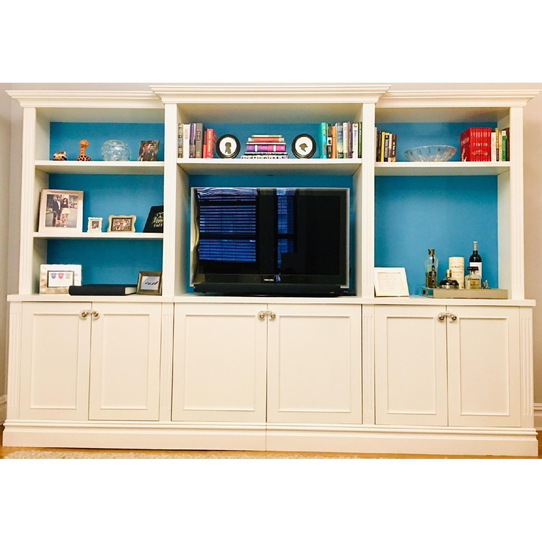 Custom Made White Entertainment/Storage Wall Unit - image-2
