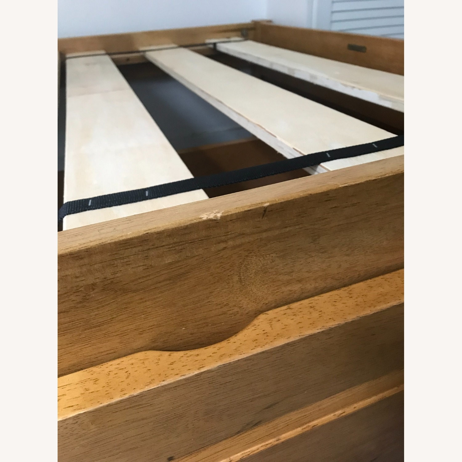 Solid Hardwood Twin Bed with Rolling Drawers - image-6