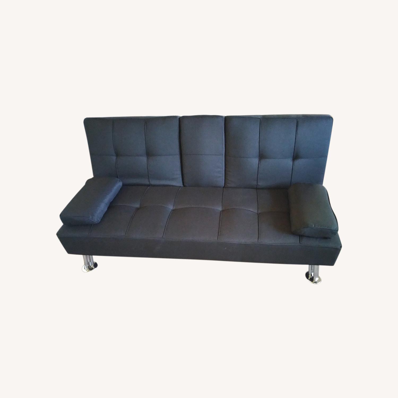 Best Home Furnishings Black Futon Sofa Bed - image-0