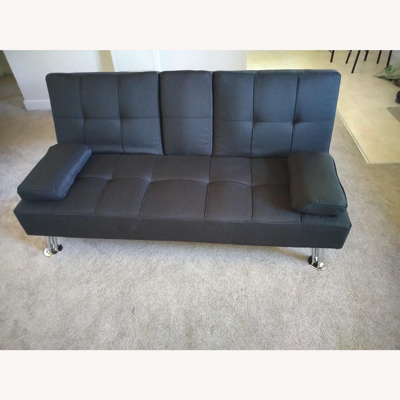 Best Home Furnishings Black Futon Sofa Bed - image-1