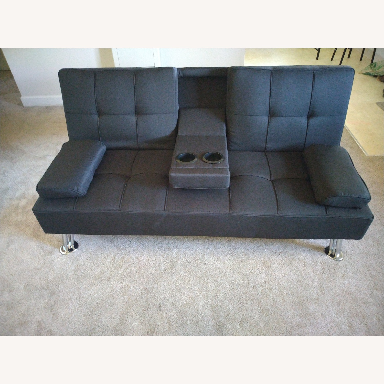 Best Home Furnishings Black Futon Sofa Bed - image-2