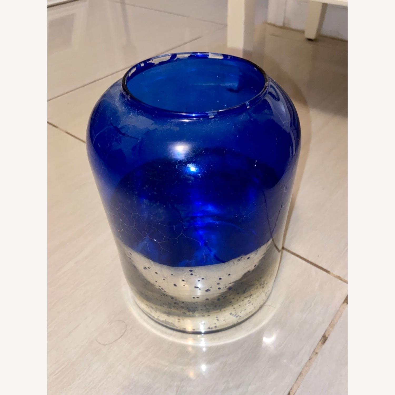 Blue / Silver Vase - image-1