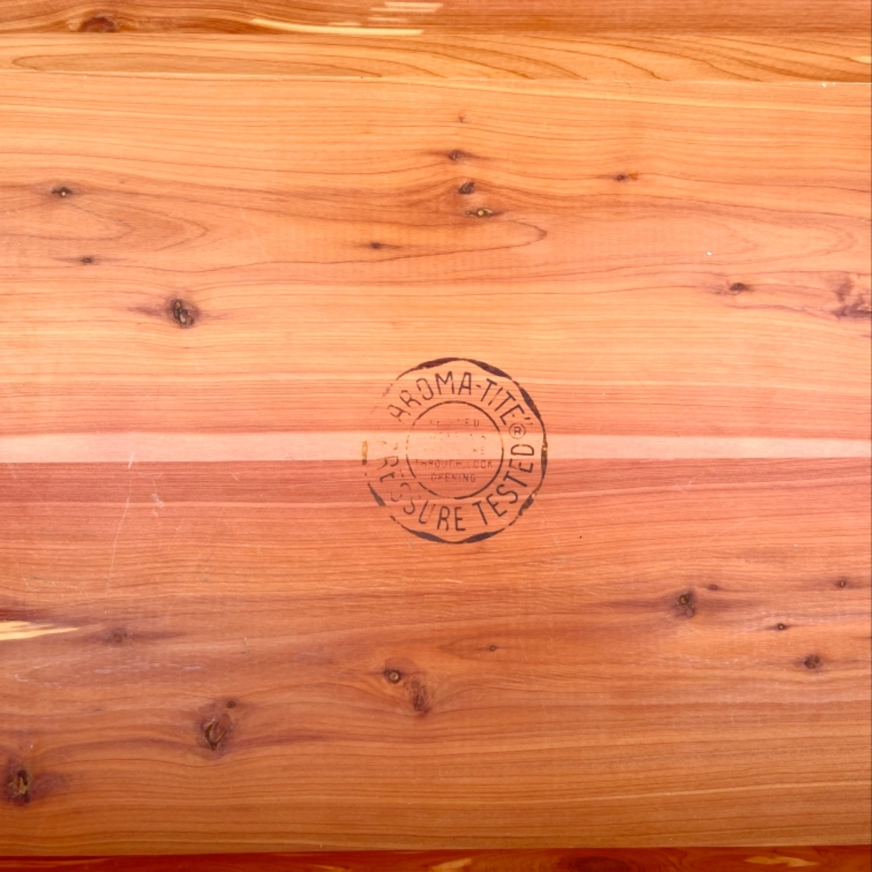 Vintage Cedar Blanket Chest by lane - image-7