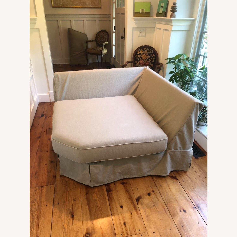 Pottery Barn Comfort Sofa slipcovered Wedge - image-27