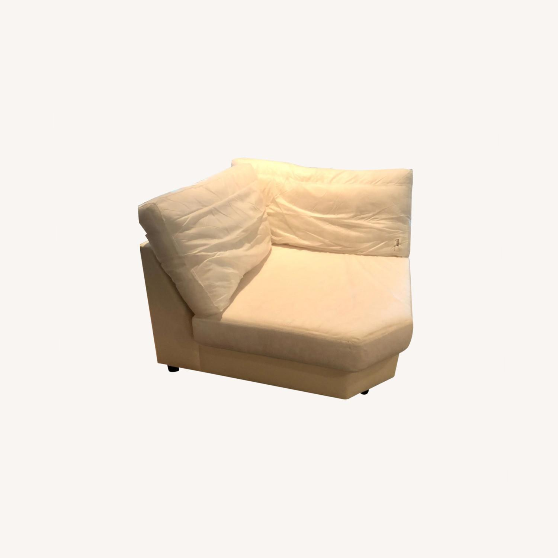Pottery Barn Comfort Sofa slipcovered Wedge - image-30