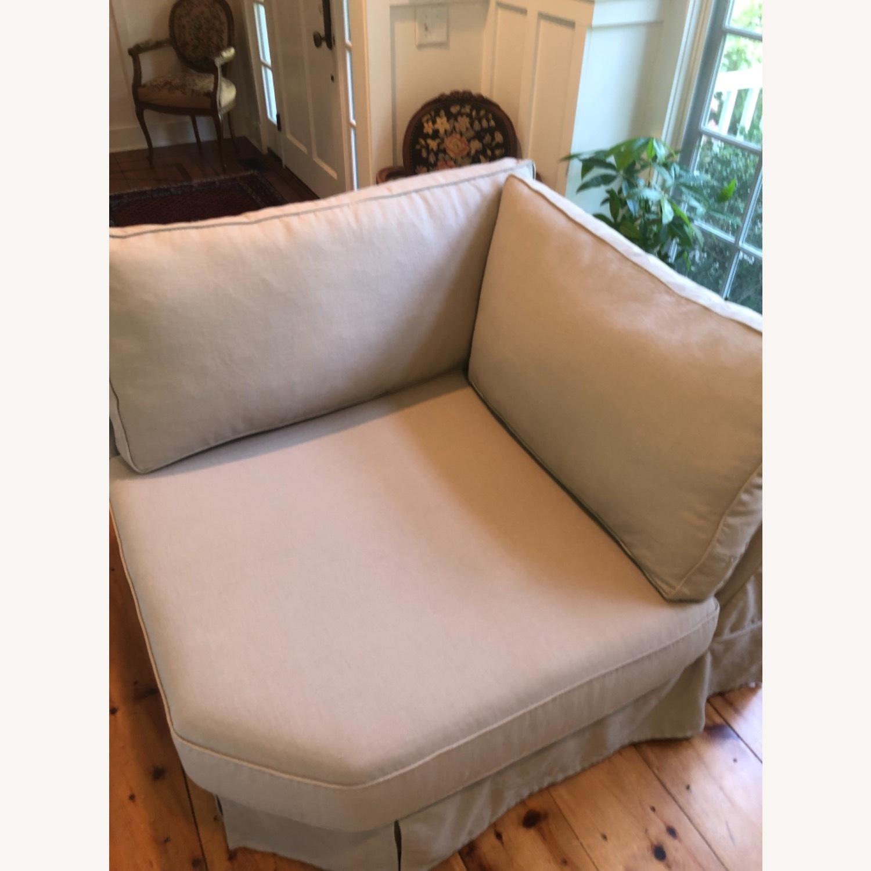 Pottery Barn Comfort Sofa slipcovered Wedge - image-20