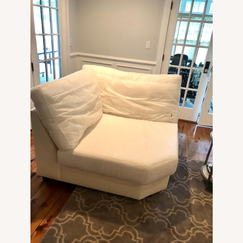 Pottery Barn Comfort Sofa slipcovered Wedge - image-3