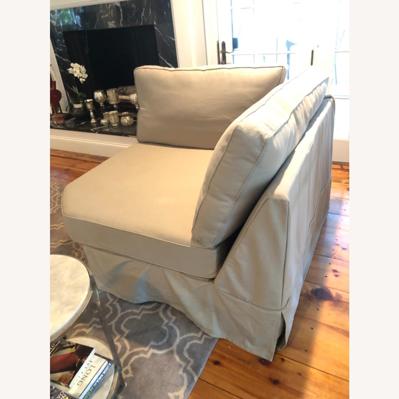Pottery Barn Comfort Sofa slipcovered Wedge - image-2