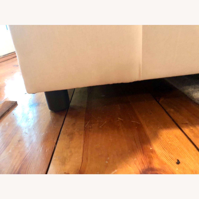 Pottery Barn Comfort Sofa slipcovered Wedge - image-5