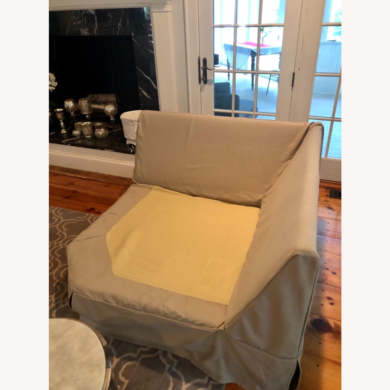 Pottery Barn Comfort Sofa slipcovered Wedge - image-7