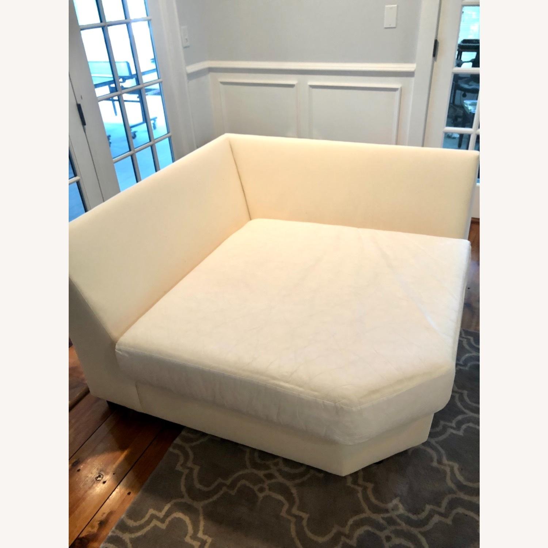 Pottery Barn Comfort Sofa slipcovered Wedge - image-4