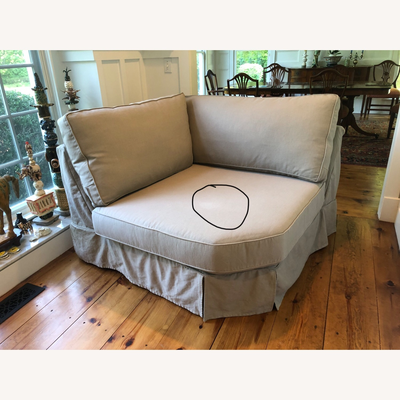 Pottery Barn Comfort Sofa slipcovered Wedge - image-17