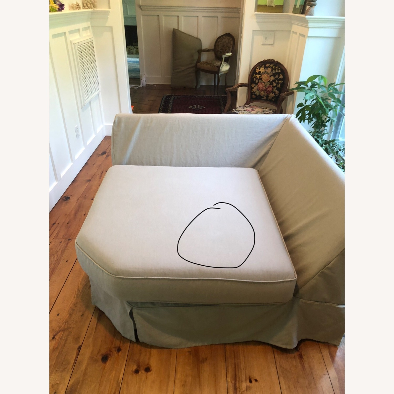 Pottery Barn Comfort Sofa slipcovered Wedge - image-21