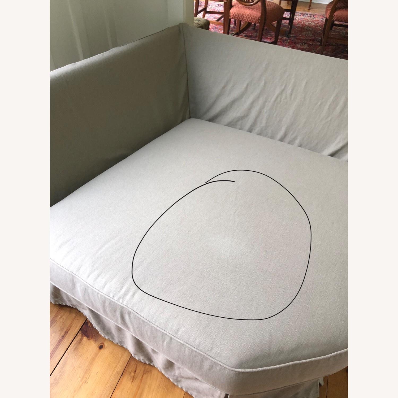 Pottery Barn Comfort Sofa slipcovered Wedge - image-31