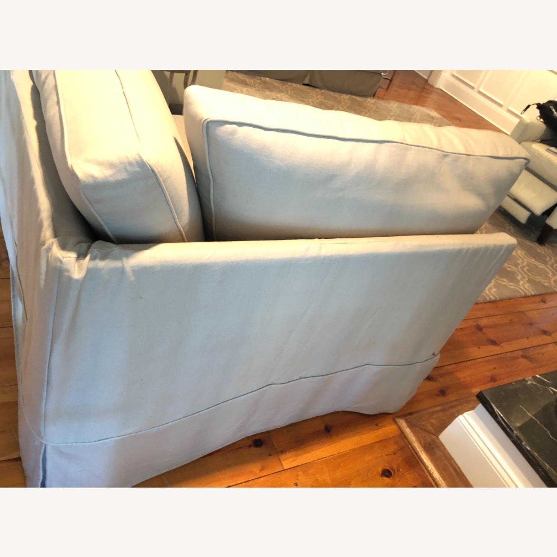 Pottery Barn Comfort Sofa slipcovered Wedge - image-12