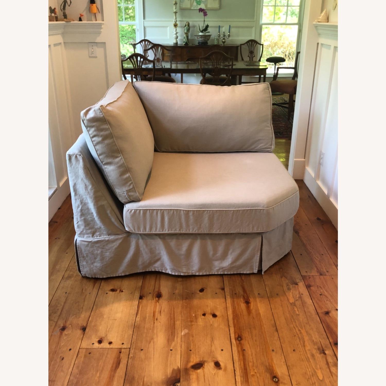 Pottery Barn Comfort Sofa slipcovered Wedge - image-28