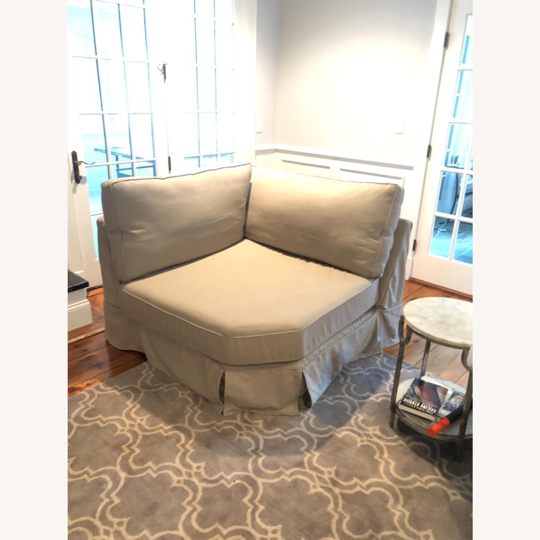 Pottery Barn Comfort Sofa slipcovered Wedge - image-0