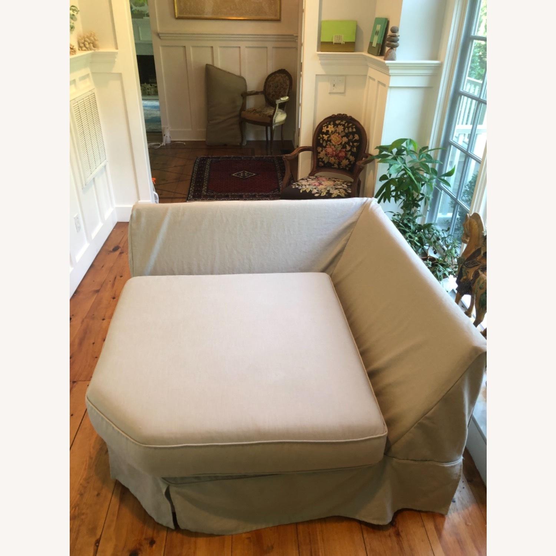 Pottery Barn Comfort Sofa slipcovered Wedge - image-26