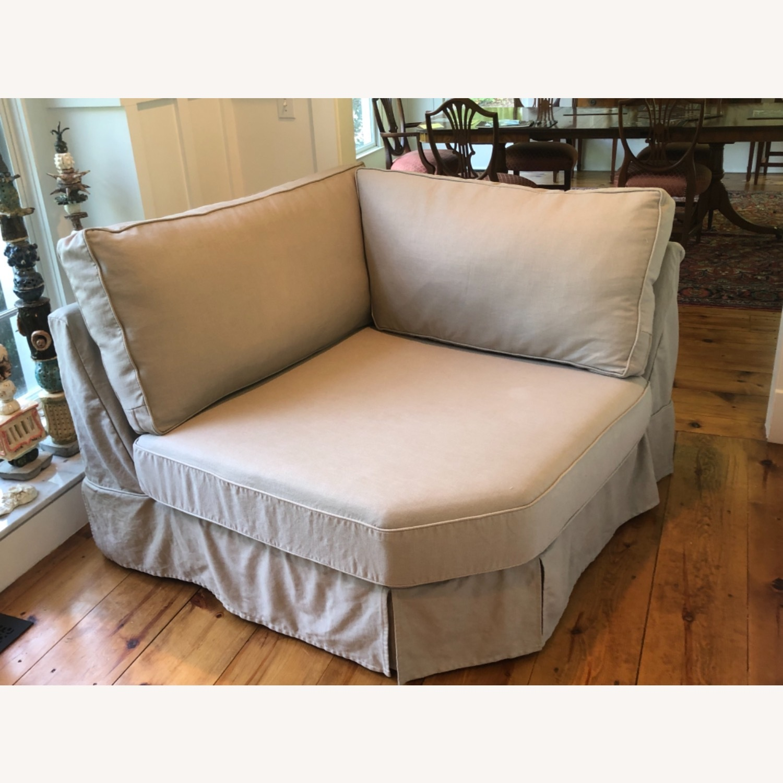Pottery Barn Comfort Sofa slipcovered Wedge - image-29