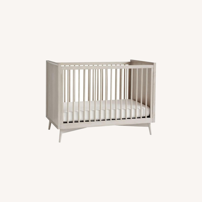 West Elm Mid-Century Convertible Crib - Pebble - image-0