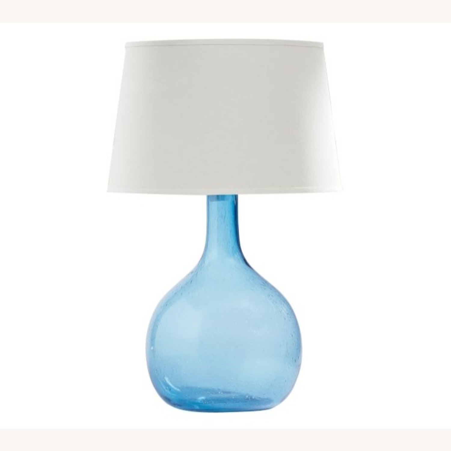 Pottery Barn Eva Colored Glass Table Lamps (blue) - image-1