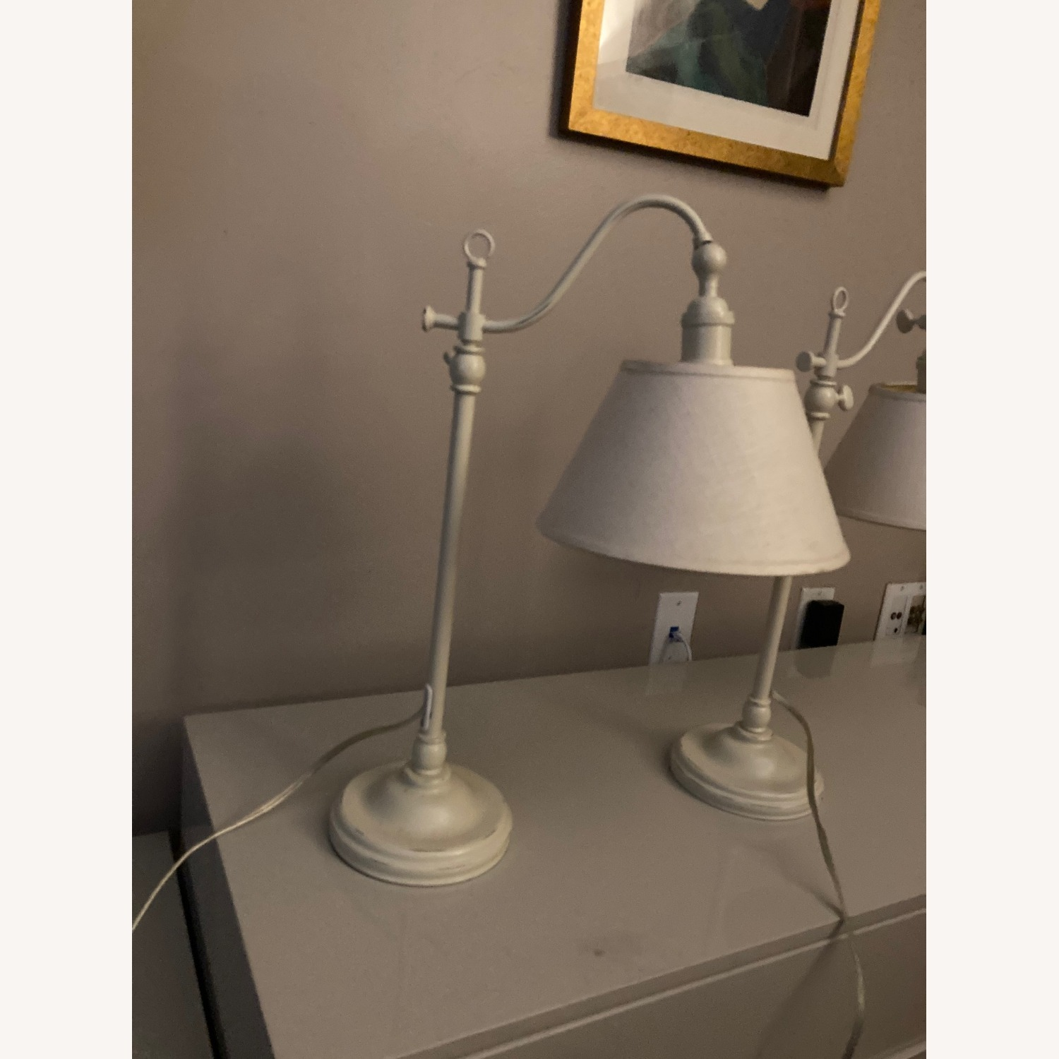 Pottery Barn Side Lamps - image-2