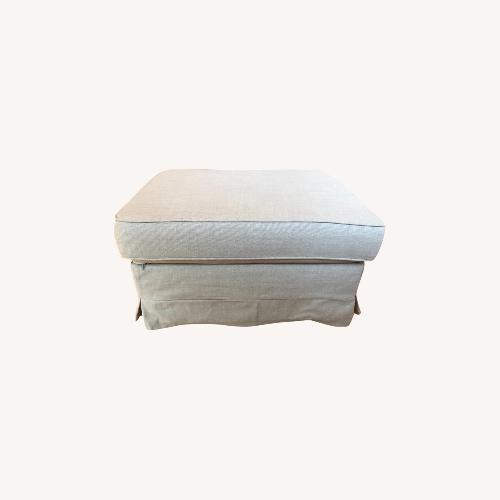 Used IKEA Ektorp Beige Ottoman/Footstool for sale on AptDeco