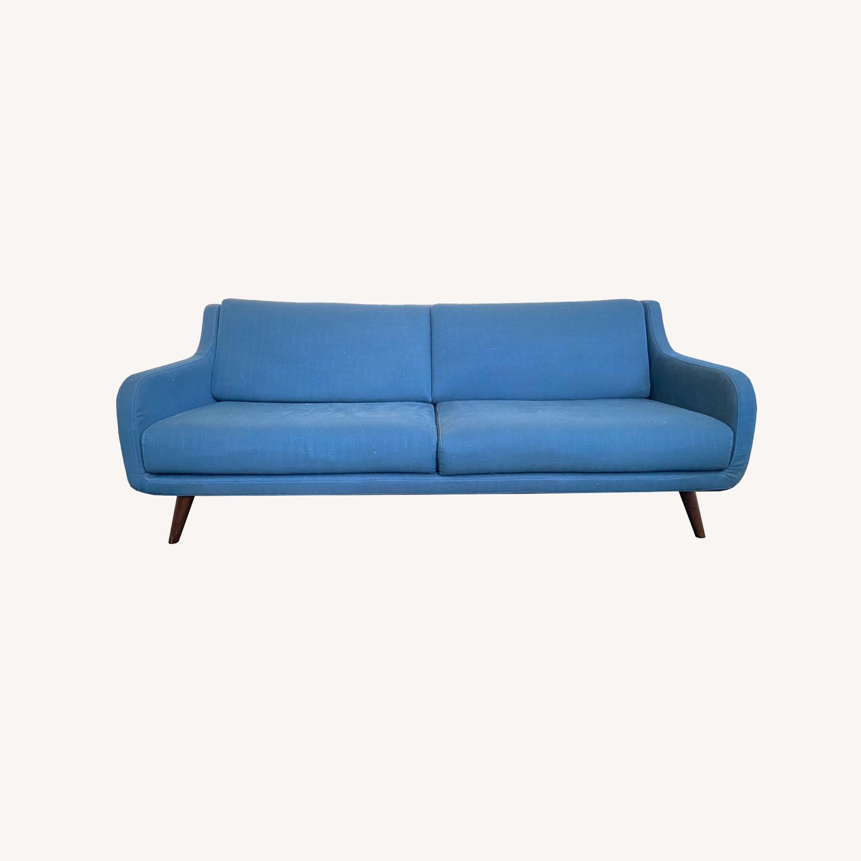 Wayfair Indigo Blue Sofa Sleeps 1 MCM Style - image-0