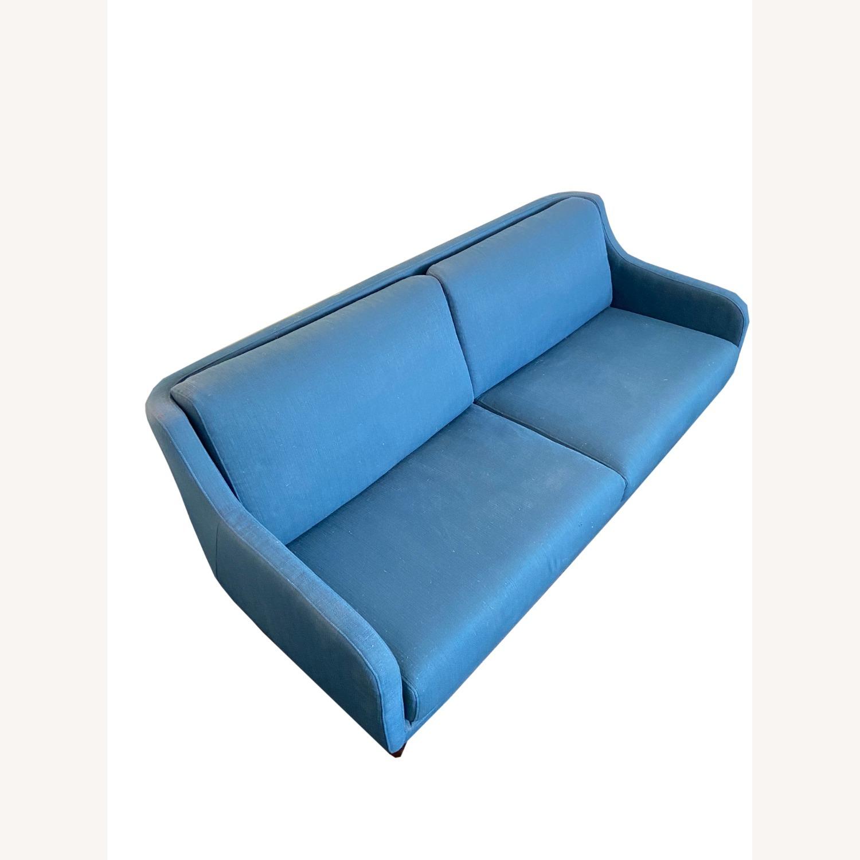 Wayfair Indigo Blue Sofa Sleeps 1 MCM Style - image-1