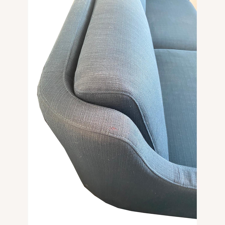 Wayfair Indigo Blue Sofa Sleeps 1 MCM Style - image-3