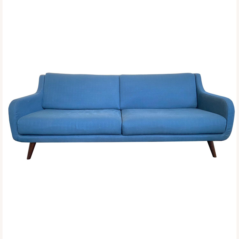 Wayfair Indigo Blue Sofa Sleeps 1 MCM Style - image-4