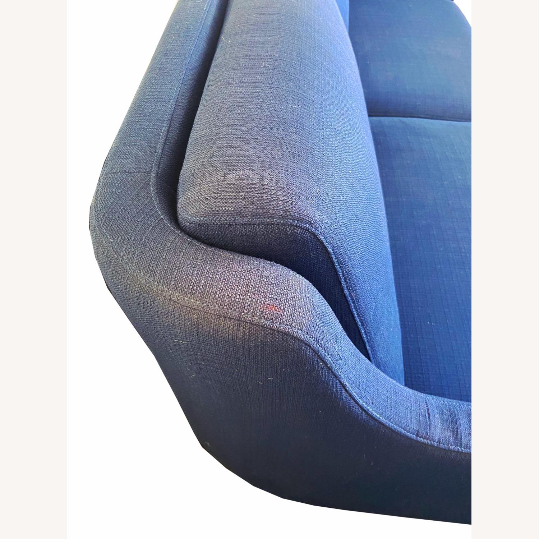 Wayfair Indigo Blue Sofa Sleeps 1 MCM Style - image-6