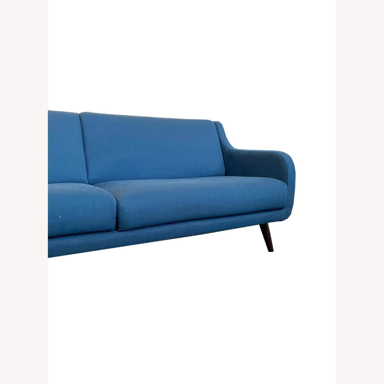 Wayfair Indigo Blue Sofa Sleeps 1 MCM Style - image-2