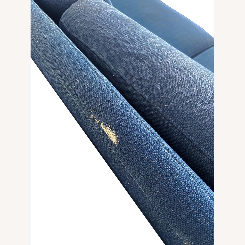 Wayfair Indigo Blue Sofa Sleeps 1 MCM Style - image-7