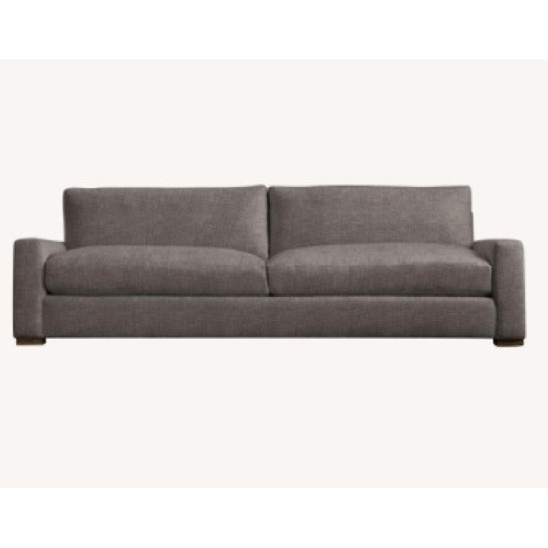 Restoration Hardware Maxwell Charcoal Velvet Sofa - image-4