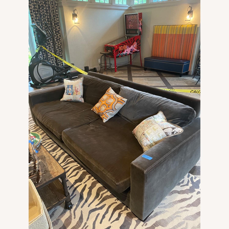 Restoration Hardware Maxwell Charcoal Velvet Sofa - image-2