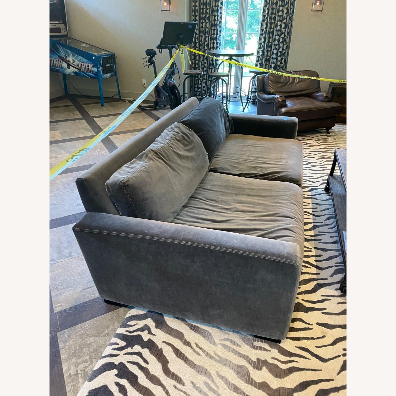 Restoration Hardware Maxwell Charcoal Velvet Sofa - image-1